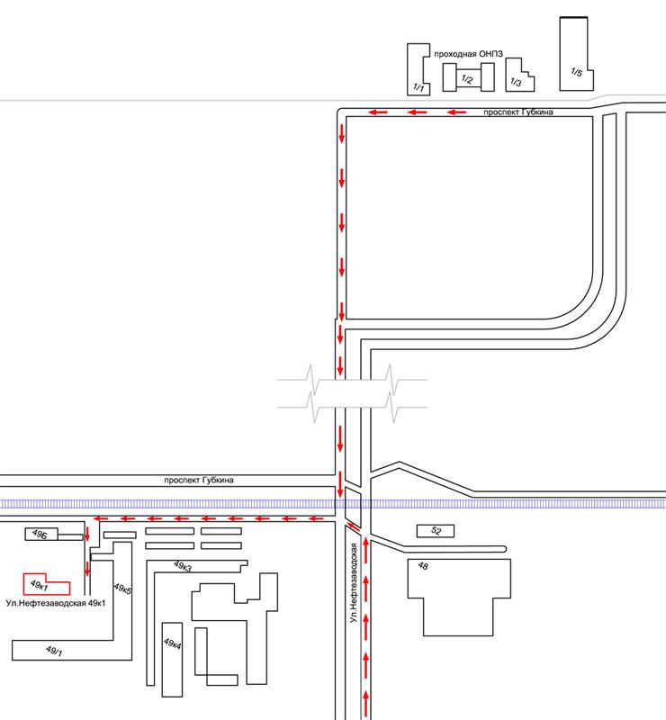 Схема проезда до офиса  ПКФ Арсенал безопасности
